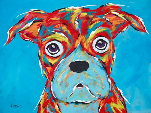 I'm Still A Good Dog - Boxer ORIGINAL PAINTING