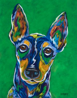 "That's For Me, Right? - Terrier ORIGINAL PAINTING SIZE 11"" X 14"""