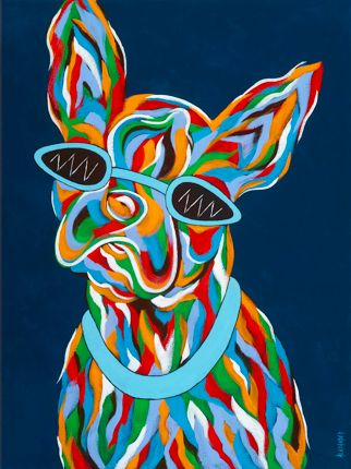"Gotta Wear Shades - Boston Terrier ORIGINAL PAINTING SIZE 18"" X 24"""