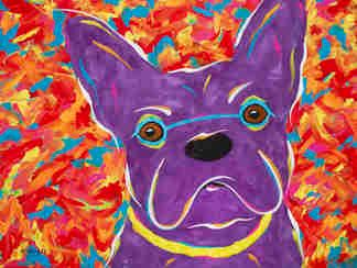 "You Can't Say 'NO' To These Eyes - French Bulldog 0RIGINAL PAINTING SIZE 18"" X 24"""