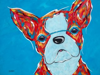 "You Had Me At Hello - Boston Terrier ORIGINAL PAINTING SIZE 18"" X 24"""