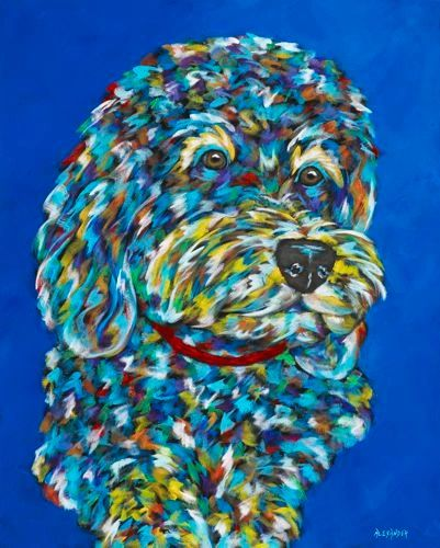 "It's All About Me! - Cockapoo METAL PRINT SIZE 16"" X 20"""