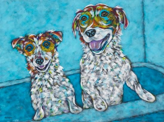 "Squeaky Clean - Jack Russell METAL PRINT Size 16"" x 20"""