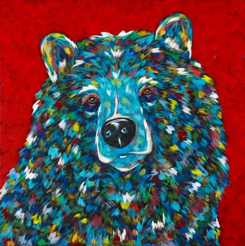 "Sugar Bear - METAL PRINT Size 12"" x 12"""
