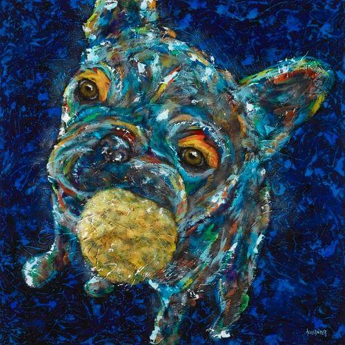 "Dare Ya! - Frenchie, French Bulldog METAL PRINT Size 12"" x 12"""