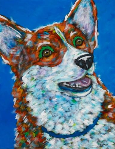 "Squirrel - Corgi METAL PRINT SIZE 11"" X 14"""