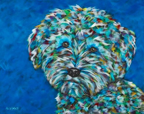 "Sweet and Silly! - Schnoodle, Schnauzer, Poodle - Metal print size 11"" x 14"""