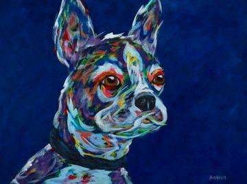 "The Guardian - Boston Terrier METAL PRINT Size 11"" x 14"""