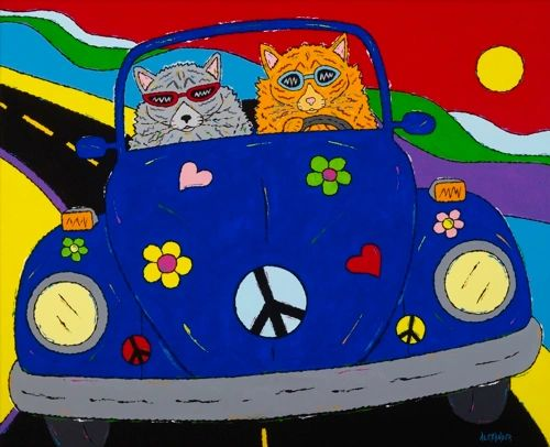 Peace, Purr & Love - Cats