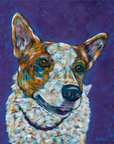 "Ready To GO - Heeler, Jack Russell METAL PRINT size 11"" x 14"""