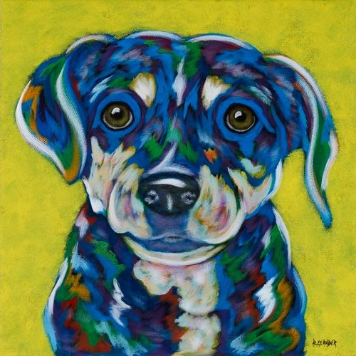 "Second Chance - Beagle Mix, Mutt METAL PRINT Size 12"" x 12"""
