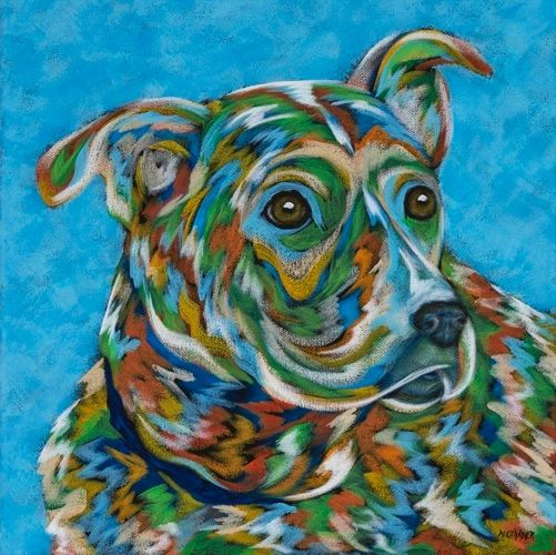 "Faithful Friend - Mutt METAL PRINT Size 12"" x 12"""