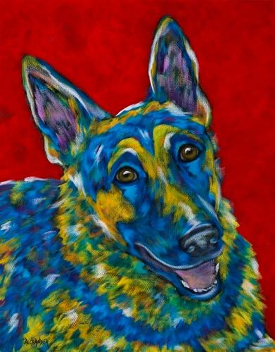 "I've Got Your Back - German Shepherd METAL PRINT size 11"" x 14"""