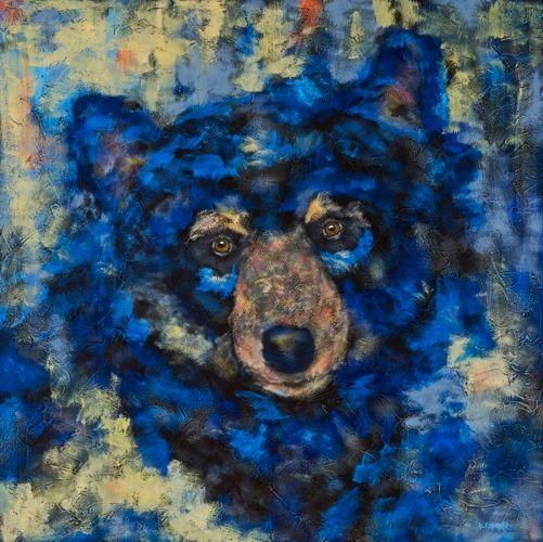 "Mama Bear - METAL PRINT SIZE 30"" X 30"""