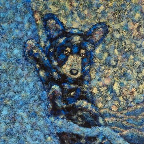 "Tree Hugger - Bear METAL PRINT SIZE 16"" X 16"""