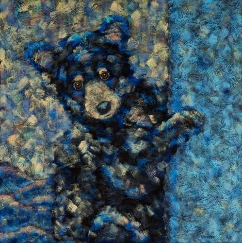 "Curious Little One - Bear METAL PRINT SIZE 16"" X 16"""