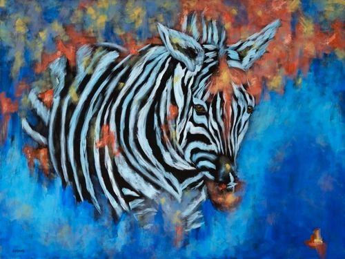 "Perserverance - Zebra METAL PRINT SIZE 30"" X 40"""