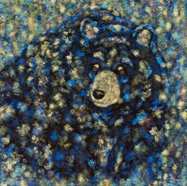 "Honey Hunter - Bear METAL PRINT SIZE 16"" X 16"""