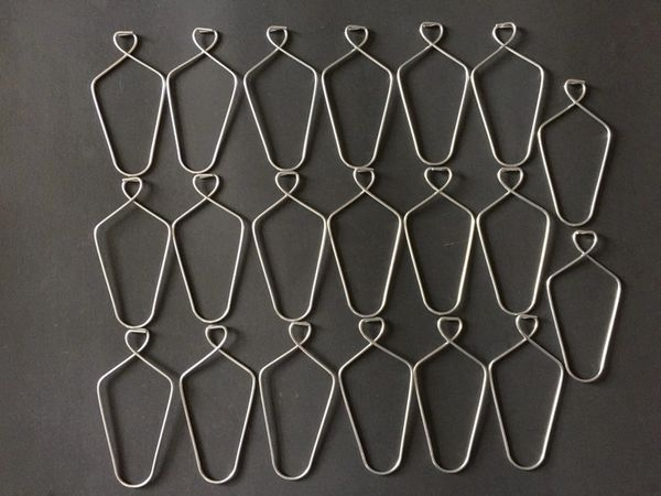 20 Pack 3 Quot Metal Wire Hanger Pinch Hook For Drop And