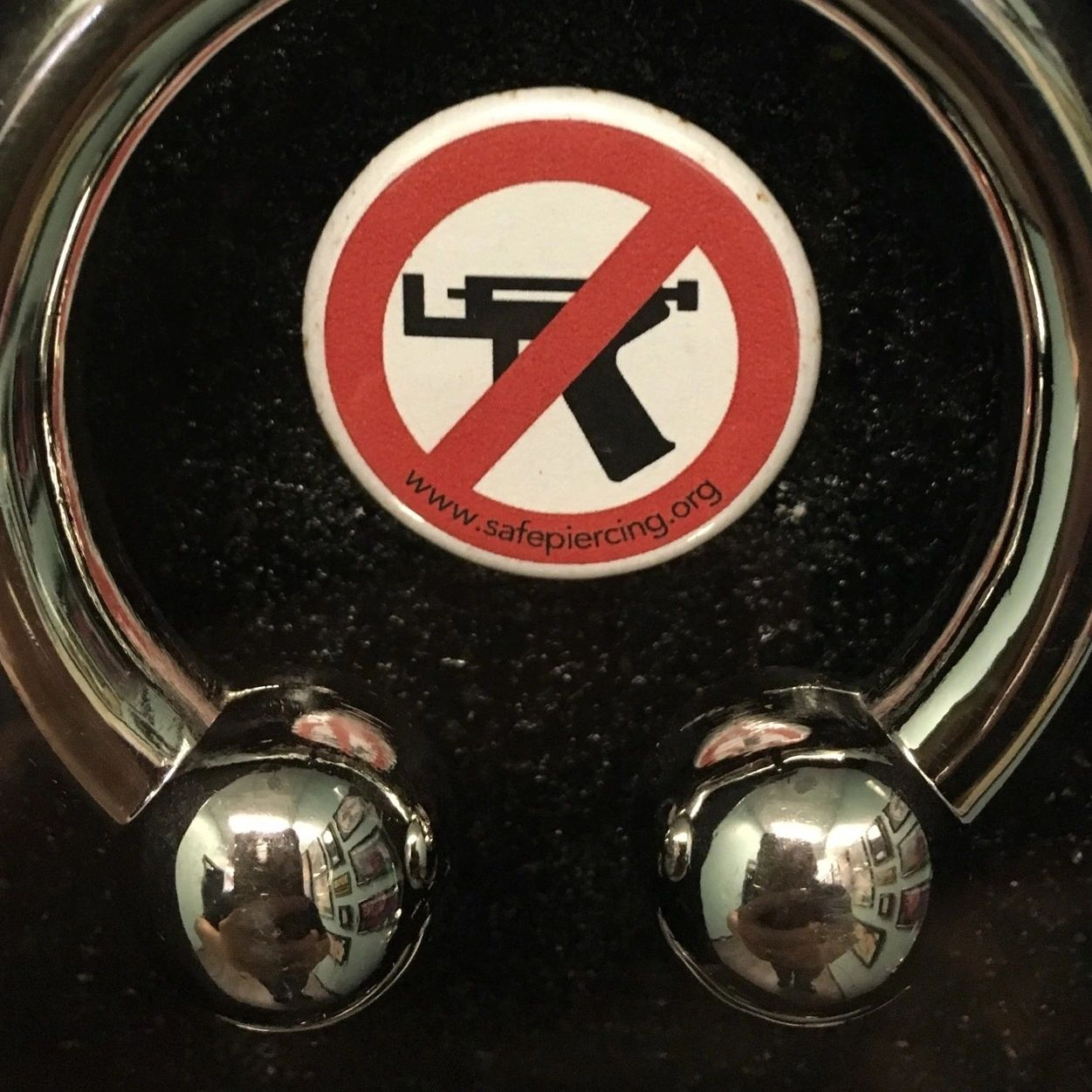 piercing guns are NEVER appropriate to use on any part of the body. .