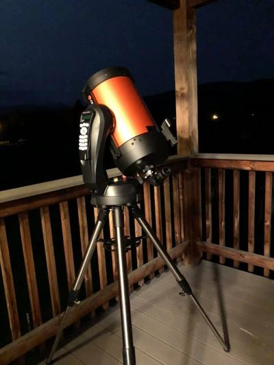 Celestron NexStar 8 SE Telescope Pointed at Stars
