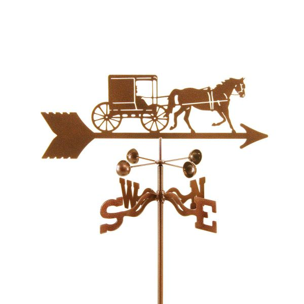 Amish Horse Buggy Weather Vane Grill And Garden