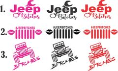 Jeep Bitches Decal