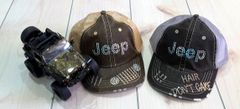 Jeep Hair Don't Care Cotton Twill Baseball Cap