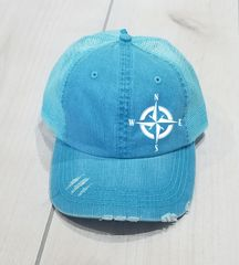 Glow in the Dark Compass Hat with High Ponytail Option