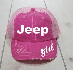 Jeep Girl Hat with High Ponytail Option