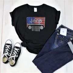 Jeep USA Crew Neck or V Neck Tee