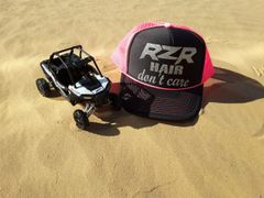 RZR Hair Don't Care Glitter Curved Bill Trucker Hat