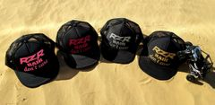 RZR Hair Don't Care Glitter Black Curved Bill Trucker Hat