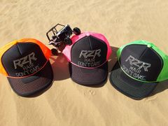 RZR Hair Don't Care Rhinestone Curved Bill Trucker Hat