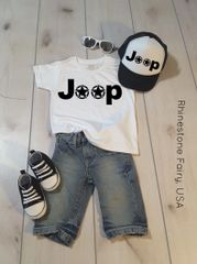 Kids Jeep Shirt and Hat Set, BOYS to Junior Size Hat and Shirt Set