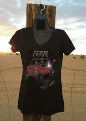 RZR Hair Don't Care V Neck Tee