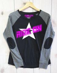 Ride On Preppy Patch Slub T-Shirt White and Pink Logo