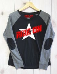 Ride On Preppy Patch Slub T-Shirt White and Red Logo