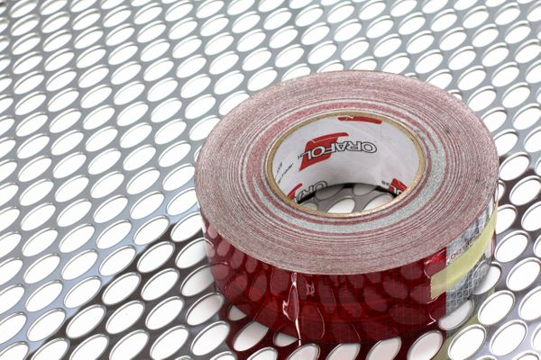 RED/WHITE REFLECTIVE TAPE - SOLD PER FOOT