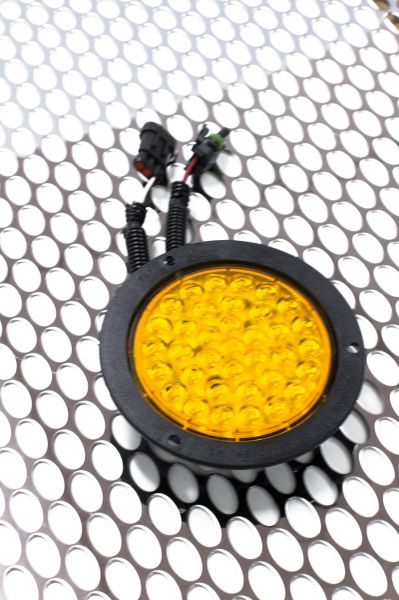 "4"" LED TURN/STROBE LH YELLOW"