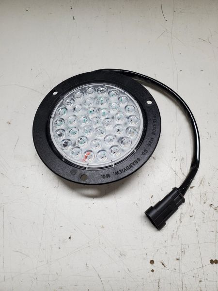 """LED 4"""" CLEAR RED STOP/TURN/TAIL LIGHT"""