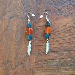 Apatite and Carnelian earring