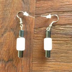Hematite and Rose Quartz earrings