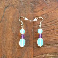 Opalite and Amethyst earrings