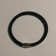 Men's 6mm braided leather bracelet