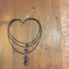 Amethyst Layered Boho Necklace