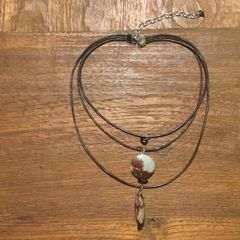 Picture Jasper Layered Boho Necklace