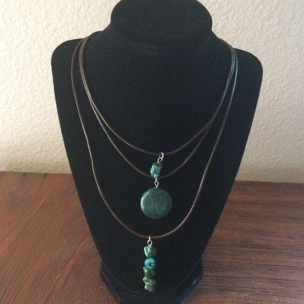 Turquoise Layered Boho necklace