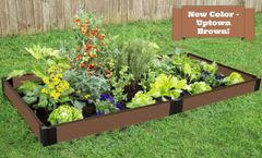 "Uptown Brown Raised Garden Bed with Snap-Lock Brackets 4' x 8' x 5.5"" – 1"" profile"
