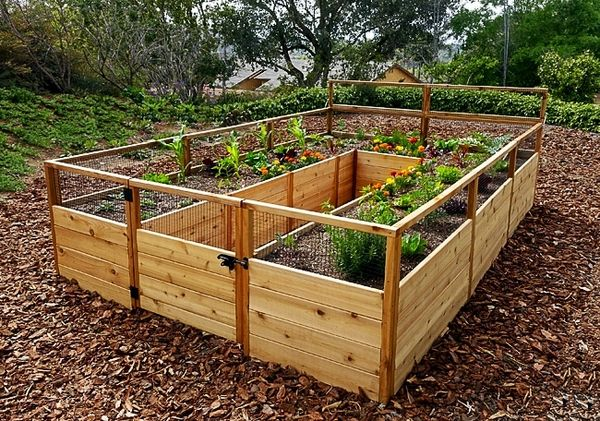 OLT Gated Cedar Raised Garden Bed 8'x 12'